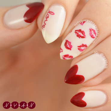 Love Is In The Air nail art by Becca (nyanails)