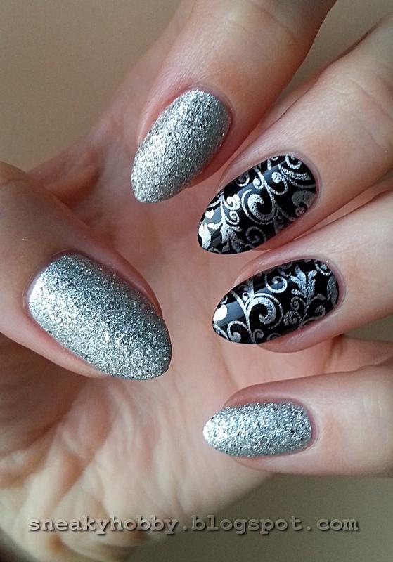 Project Rainbow II: Week 6 - Silver nail art by Mgielka M