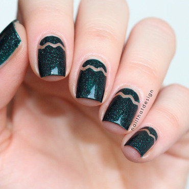Almost Negative Space  nail art by NailThatDesign