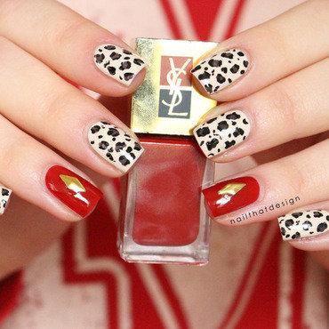 Sexy Leopard nail art by NailThatDesign