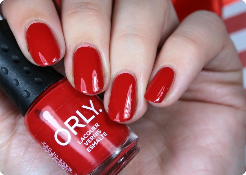 Orly HAUTE RED Swatch by Romana