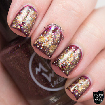 Red gold glitter holo galaxy nail art 4 thumb370f
