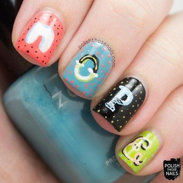 Nope typography freehand polka dot nail art 4 thumb370f