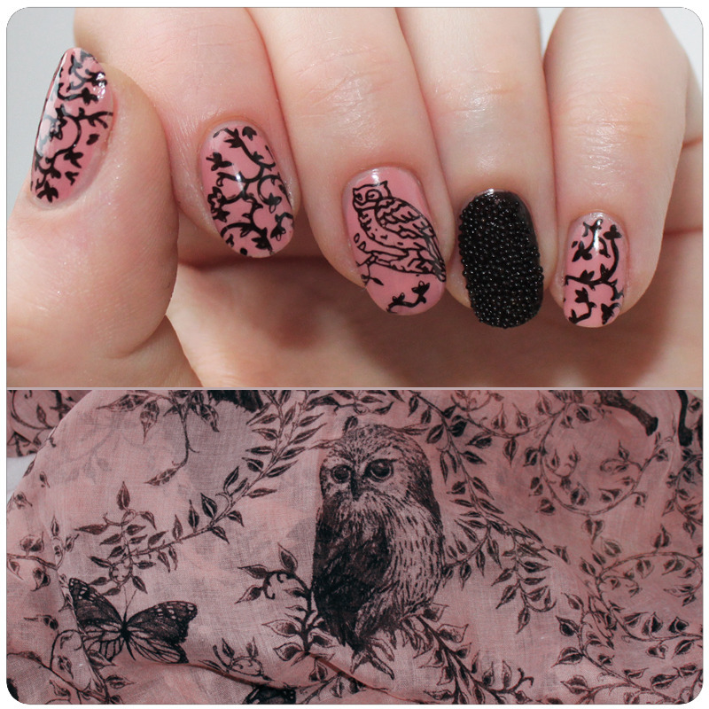 Inspired by a scarf nail art by KataTM