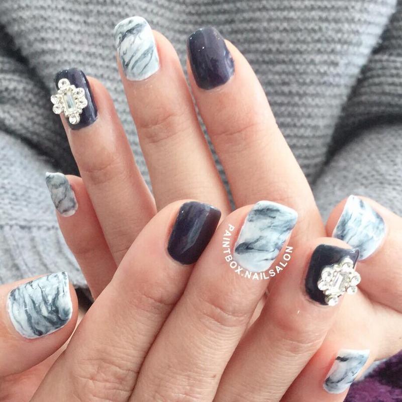 Marble Stone Nail Art Nail Art By Paintbox Nail Salon Nailpolis