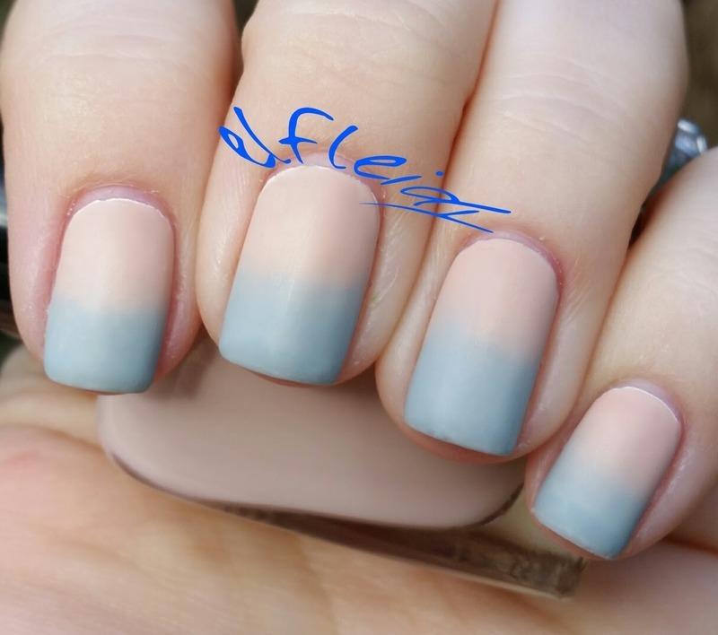 Pantone Colors of the Year gradient nail art by Jenette Maitland-Tomblin