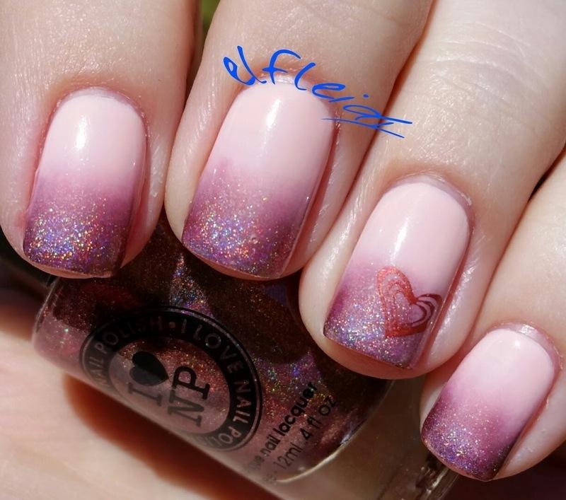 Valentine's mani nail art by Jenette Maitland-Tomblin