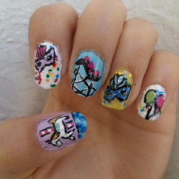 CARNAVAL nail art nail art by Luzazul