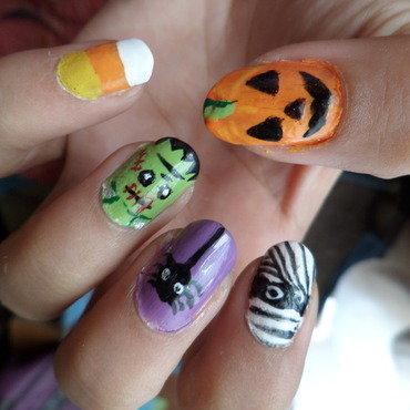 Halloween nailart 2014 nail art by Luzazul