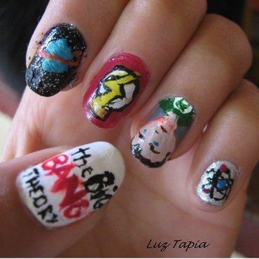 Big Bang Theory nails 2012 nail art by Luzazul