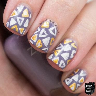 Purple triangles geometric pattern nail art 4 thumb370f