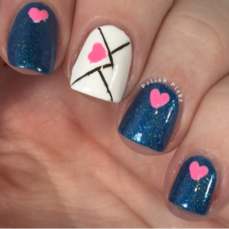 Love Letters nail art by Crystal Bond