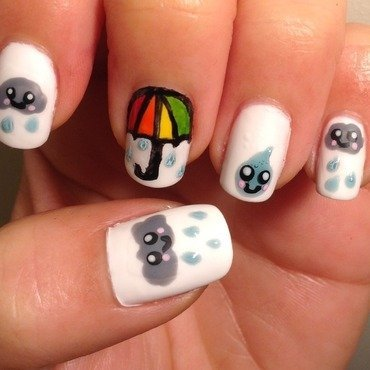 Rainy Day (Kawaii Series) nail art by Idreaminpolish
