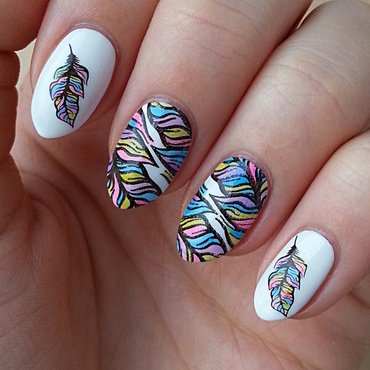Project Rainbow II: Week 7 - Rainbow nail art by Mgielka M