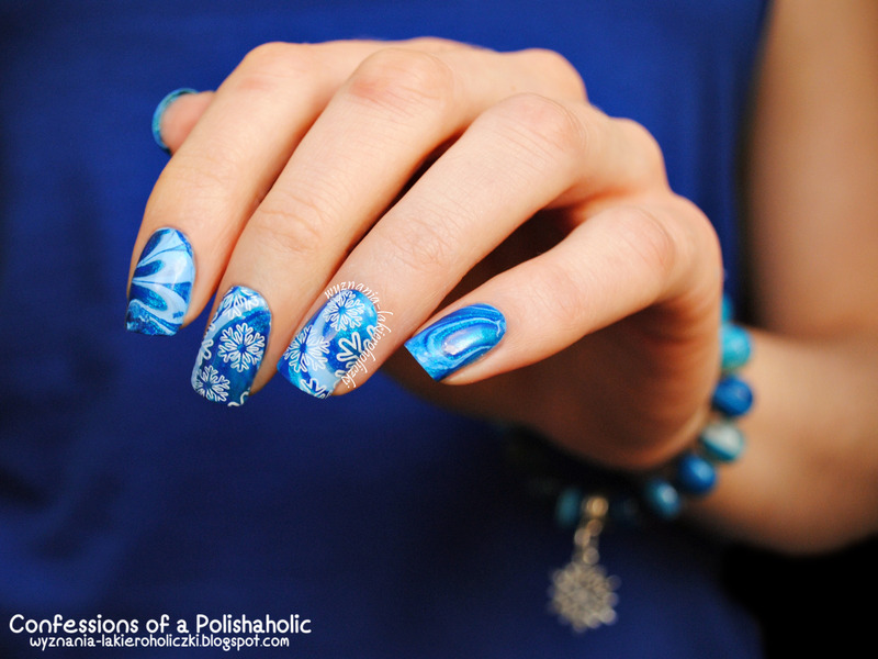 Let it snow ♥ nail art by Olaa