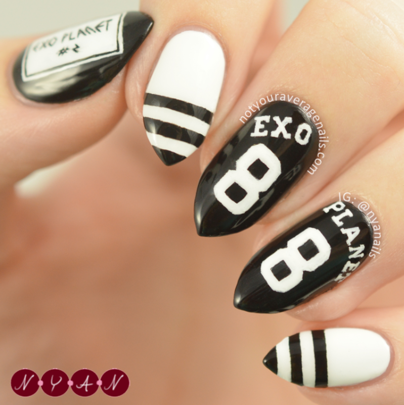EXO\'luXion nail art by Becca (nyanails) - Nailpolis: Museum of Nail Art
