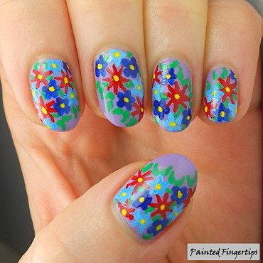 Flower garden nail art thumb370f