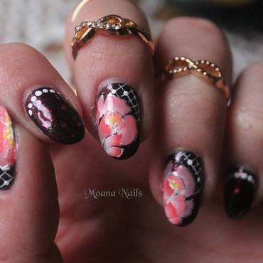Heart decadent nail art by MoanaNails