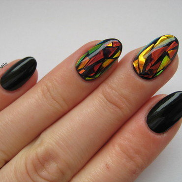 Mirror Nail nail art by specialle