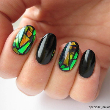 Glass Nail nail art by specialle