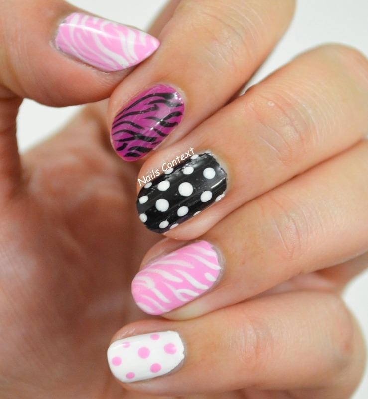 The unusual combo nail art by NailsContext