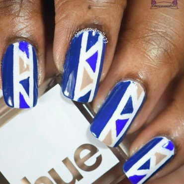 Geometric Nail Art nail art by glamorousnails23