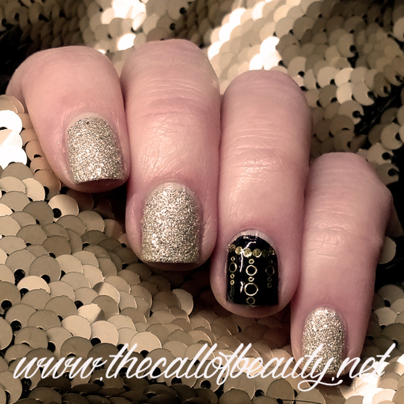 Gold And Black Accent Nail Art By The Call Of Beauty Nailpolis