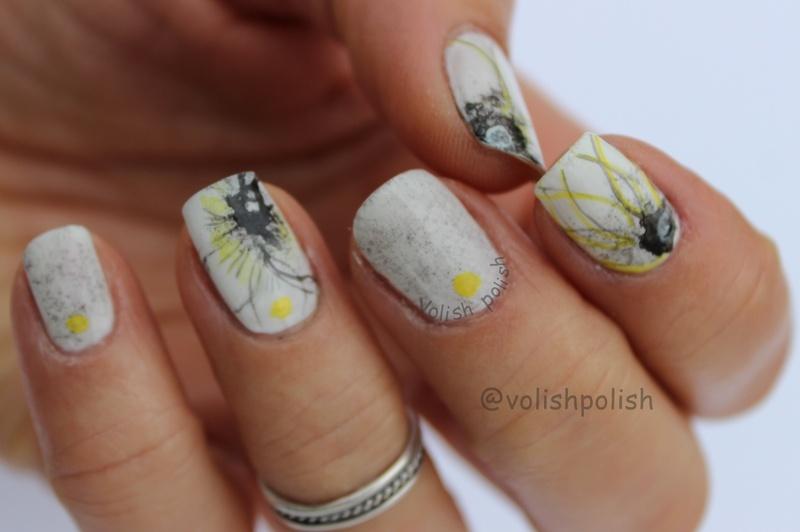 Japanese nail art on my way nail art by Volish Polish