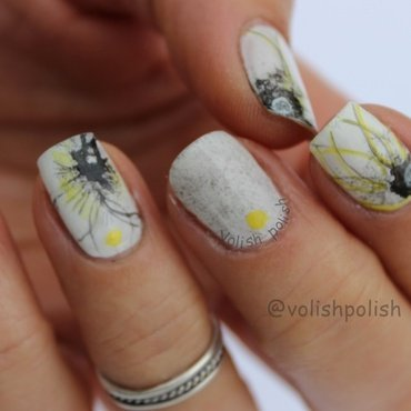 Japanese nail art on my way nail art by Volish Polish