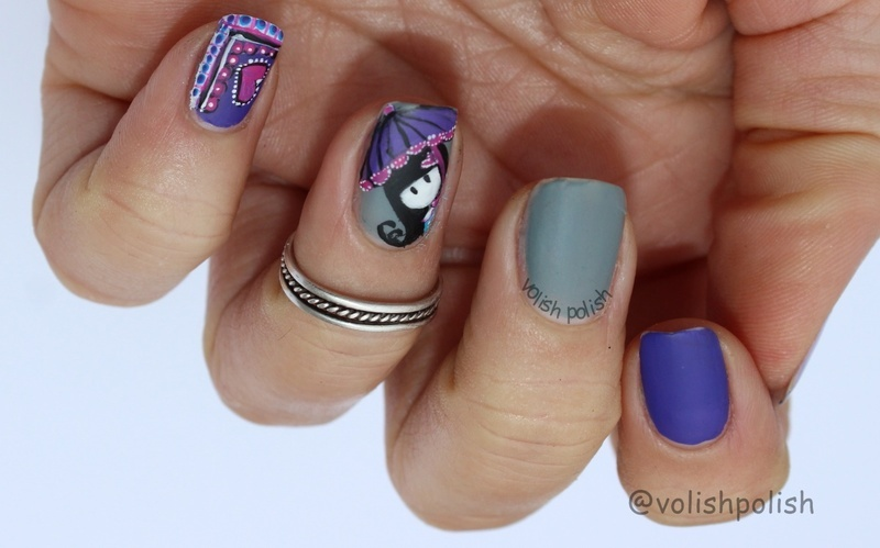 Cute Santoro nail art nail art by Volish Polish