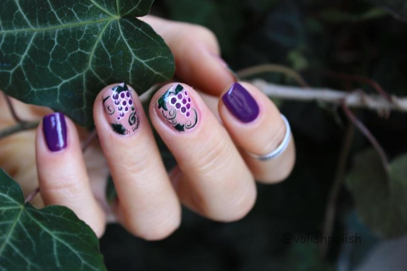In vino veritas nail art by Volish Polish