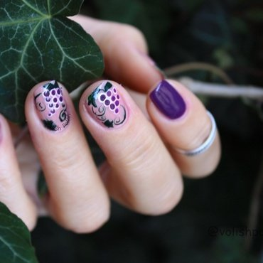 In vino veritas nail art by Volish Polish