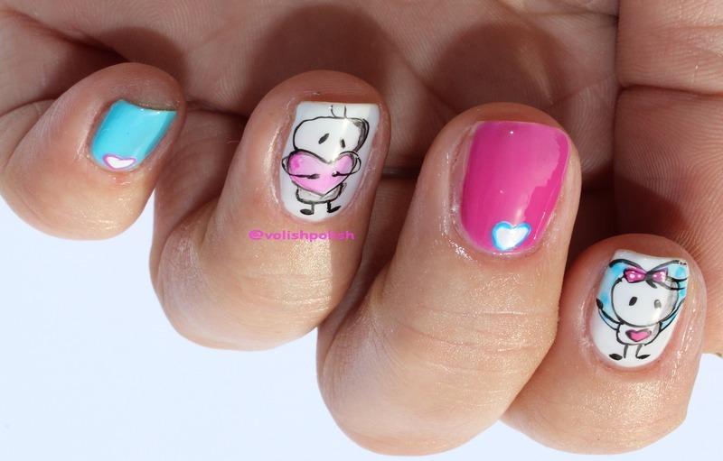 Viber's Bigli Migli on nails nail art by Volish Polish