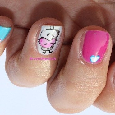 Viber's Bigli Migli on nails nail art by Volish Polish