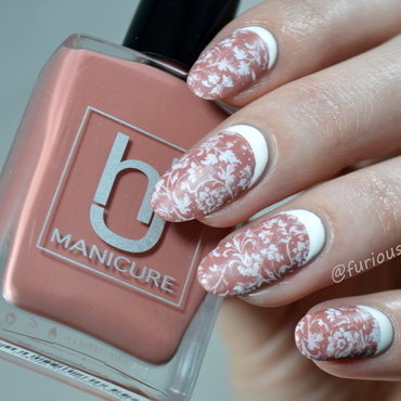 Shabby Chic nail art by Furious Filer