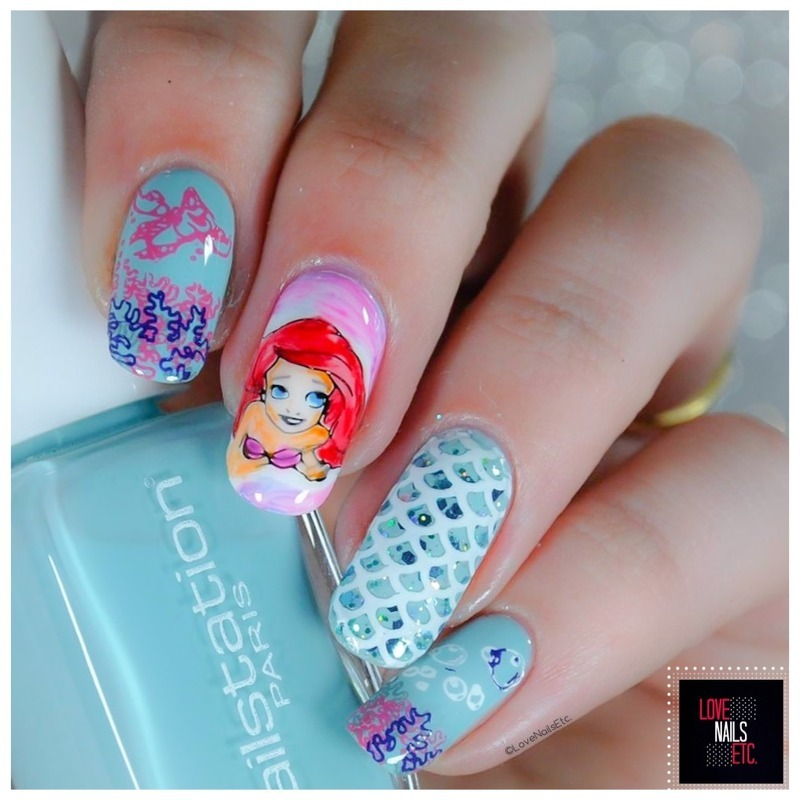 """Under the sea"" nail art by Love Nails Etc"