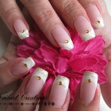 French Gold  nail art by Nailart Creations