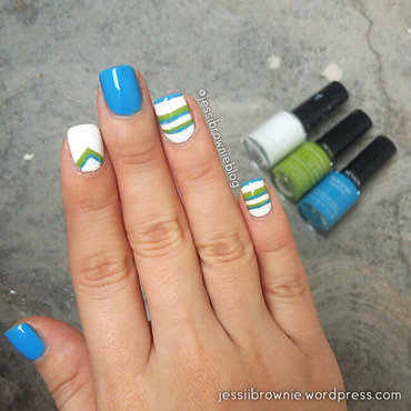 Jersey Pattern nail art by Jessi Brownie (Jessi)