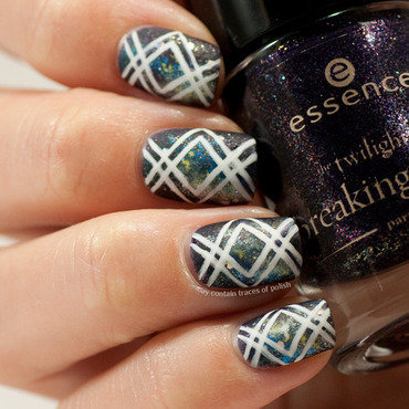 XX Galaxy nails nail art by Zara TracesOfPolish