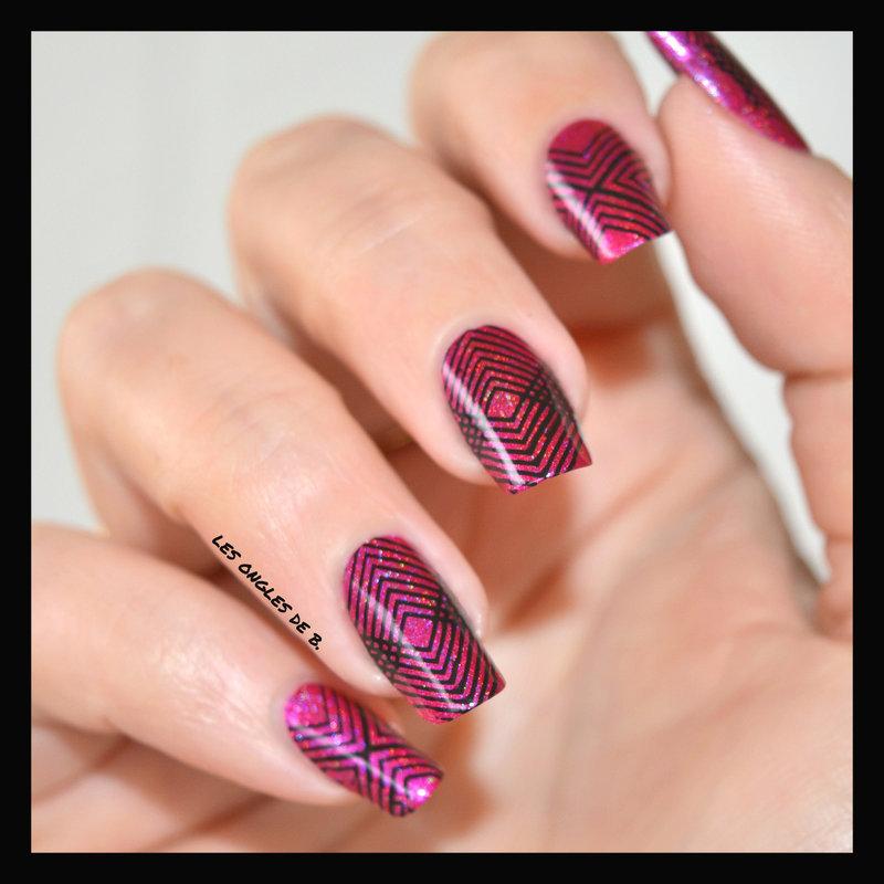 Geometric nail art by Les ongles de B.