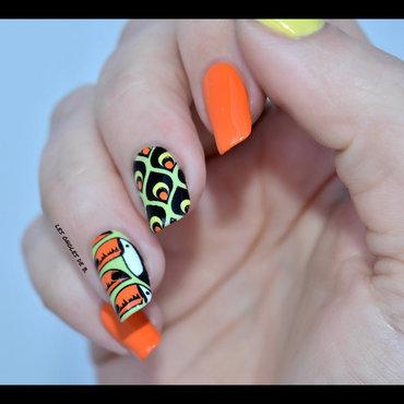 Toucan des îles nail art by Les ongles de B.