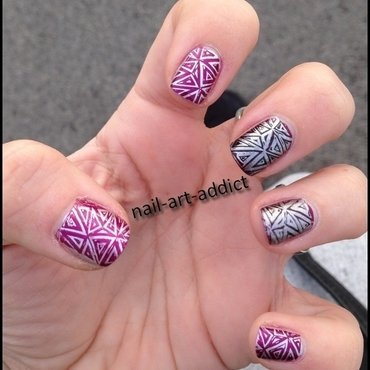 Nail Art : Stamping nail art by SowNails