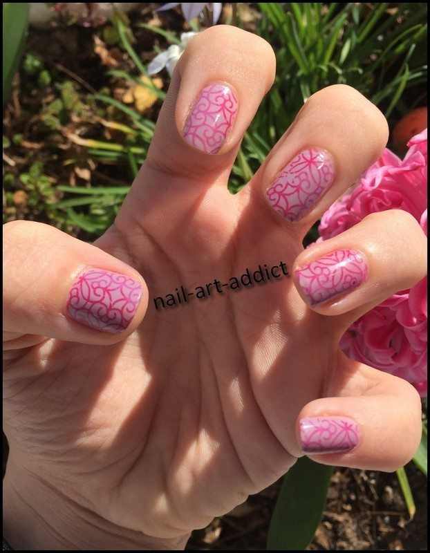 Let's Stamp for Marine's Bday nail art by SowNails