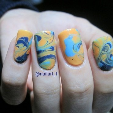 Drag marble nail art by NailArt_T