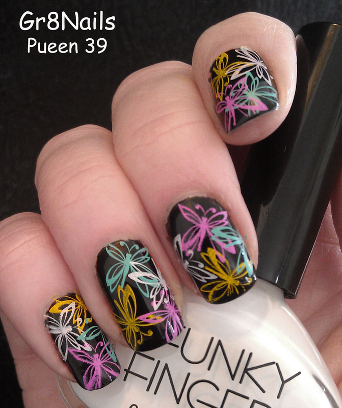 Pueen 39 nail art by Gr8Nails