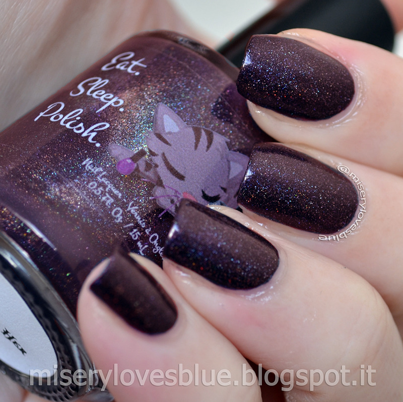 Eat Sleep Polish Bruised Her Soul Swatch by MiseryLovesBlue