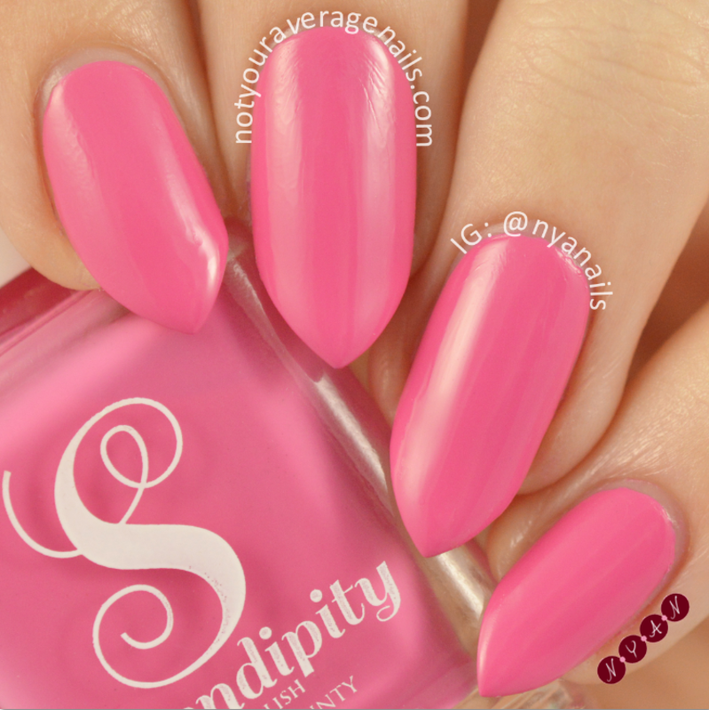 Serendipity Polish Pink Poinsettia Swatch by Becca (nyanails)