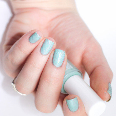 Mint & Silver stamping nail art by cosmetoandco