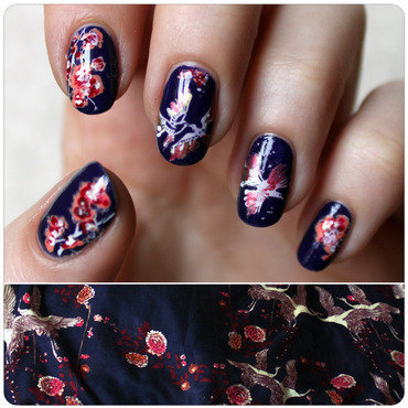 Inspired by a scarf II. nail art by KataTM