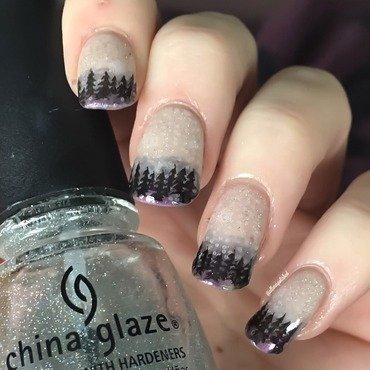 Snowy Forest  nail art by allwaspolished